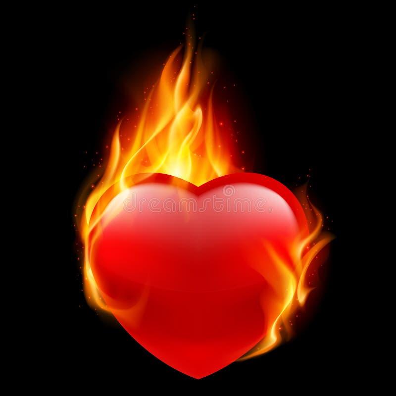 Coração do fogo ilustração royalty free