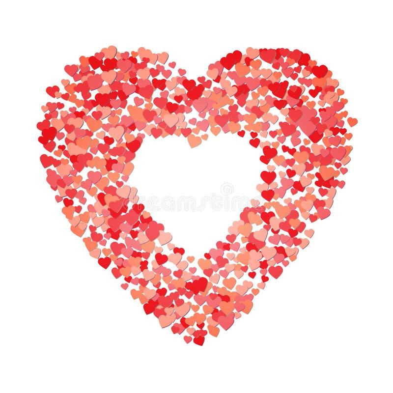 Coração do formulário dos corações Para o dia do ` s do Valentim e o marryage ou a outra celebração do amor Ilustração do vetor imagens de stock royalty free