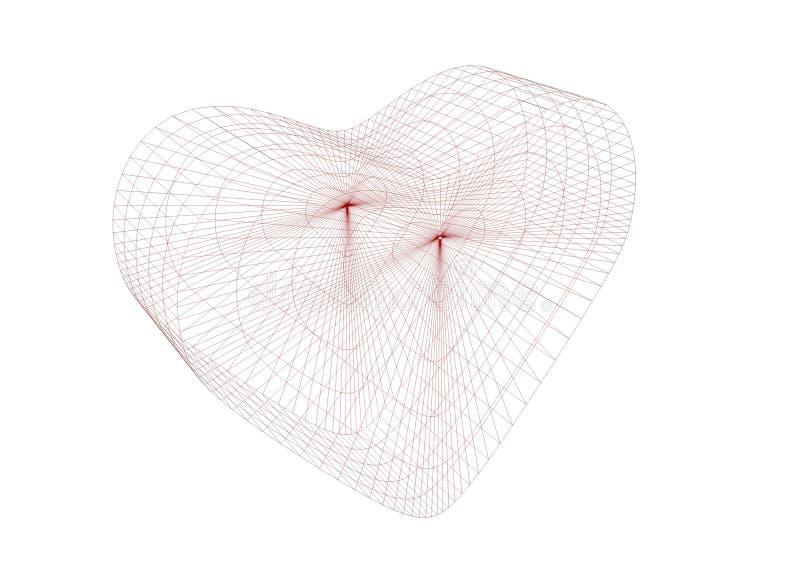coração do frame do fio 3D fotos de stock