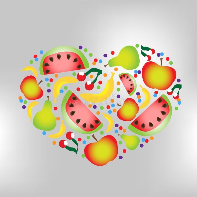 Coração do fruto ilustração royalty free