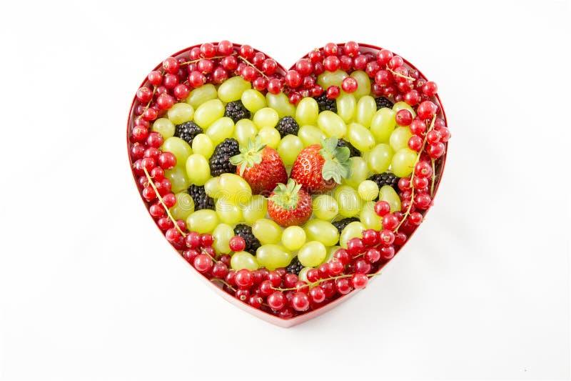 Coração do fruto imagem de stock royalty free