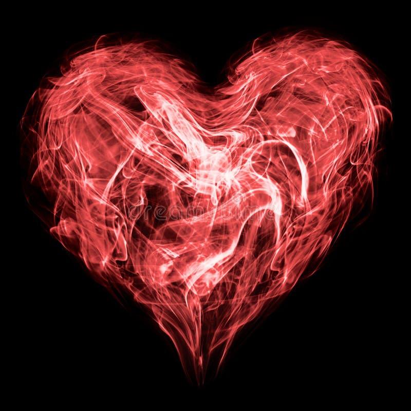 Coração do fumo ilustração do vetor