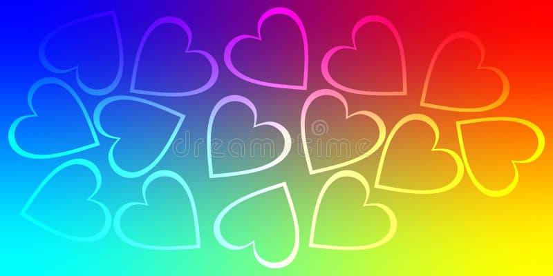 Coração do fundo dos Valentim, amor do dia de são valentim ilustração stock
