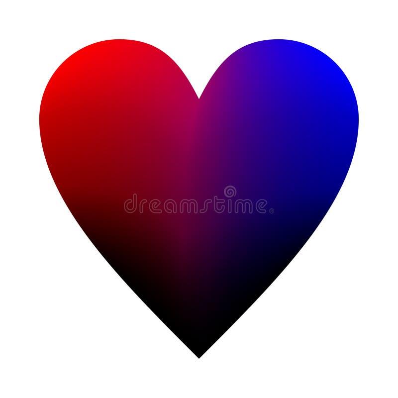 Coração do fundo dos Valentim, amor do dia de são valentim ilustração royalty free
