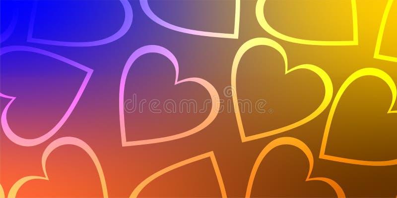 Coração do fundo dos Valentim, amor do dia de são valentim ilustração do vetor