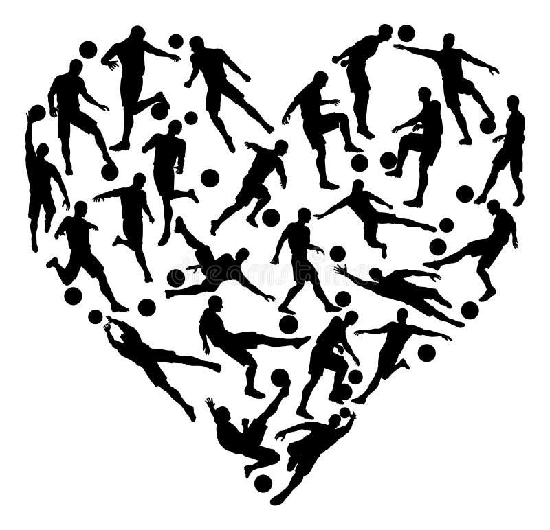 Coração do futebol do futebol ilustração royalty free
