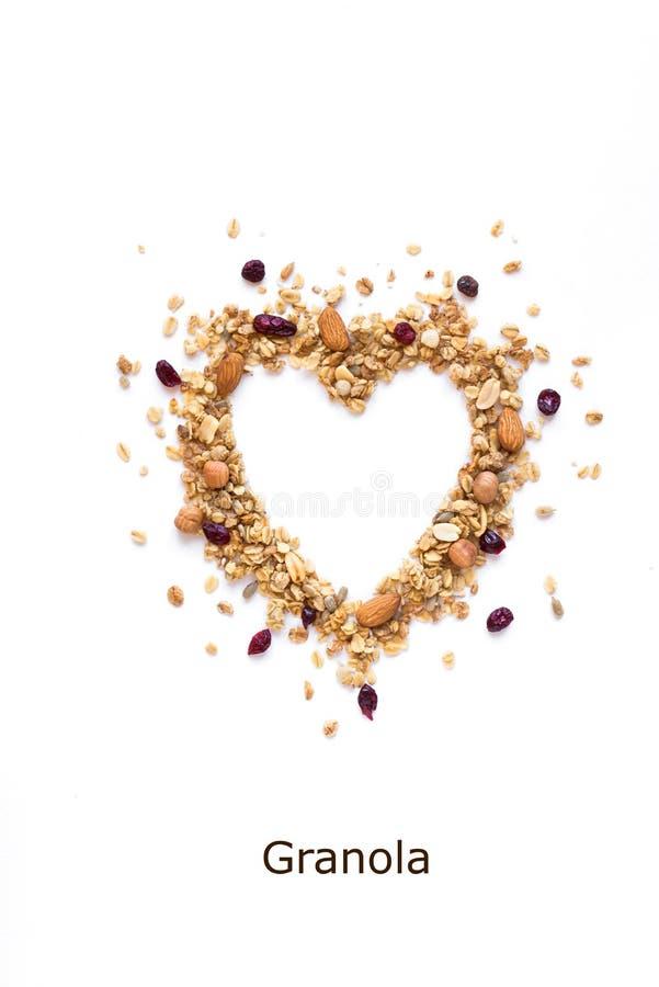 Coração do Granola fotografia de stock