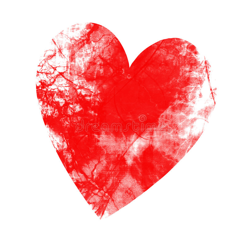 Coração do Grunge ilustração royalty free