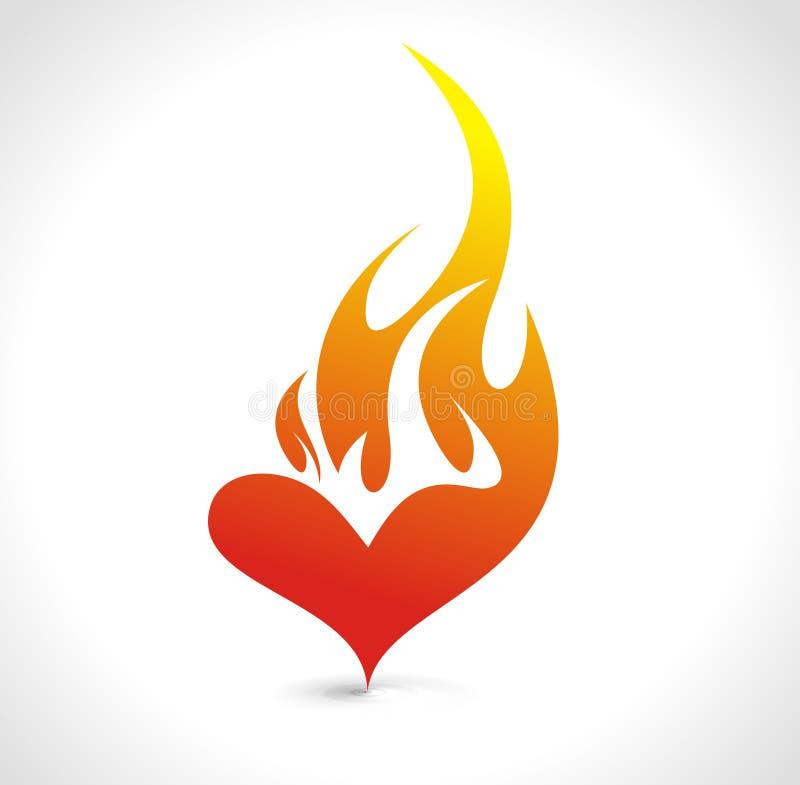 coração do incêndio ilustração royalty free