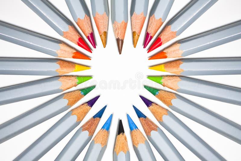 Coração do lápis imagens de stock