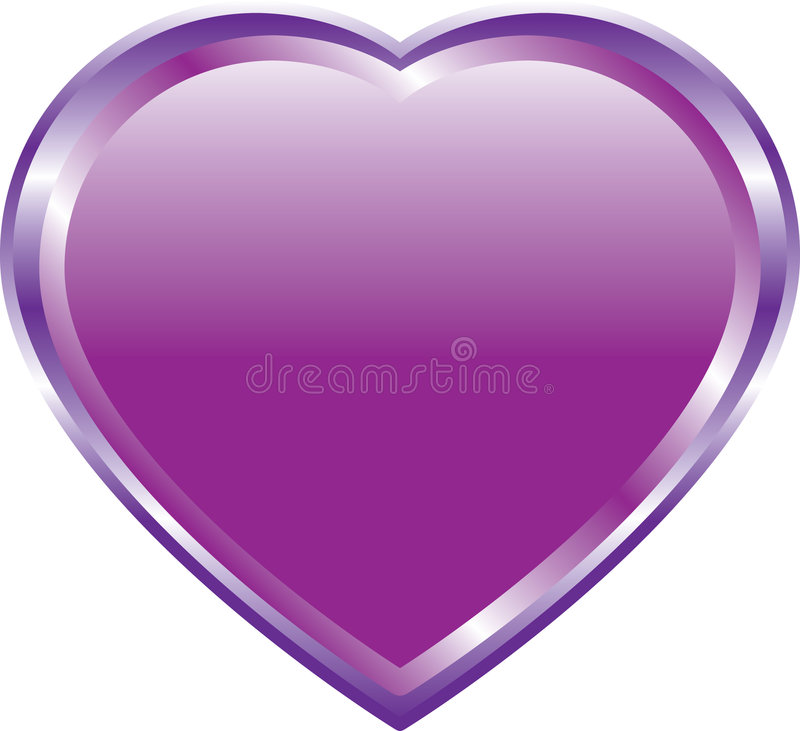 Coração do Lilac no branco ilustração royalty free