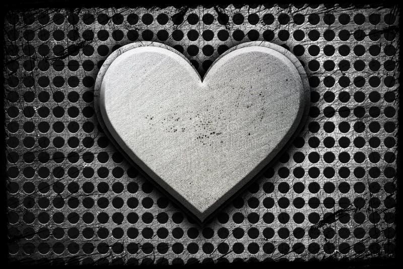 Coração do metal fotos de stock