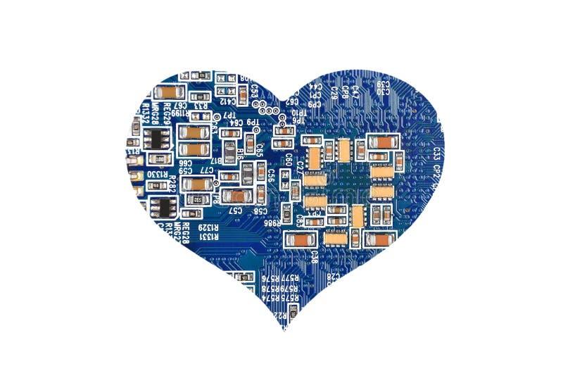 Coração do microcircuito fotos de stock