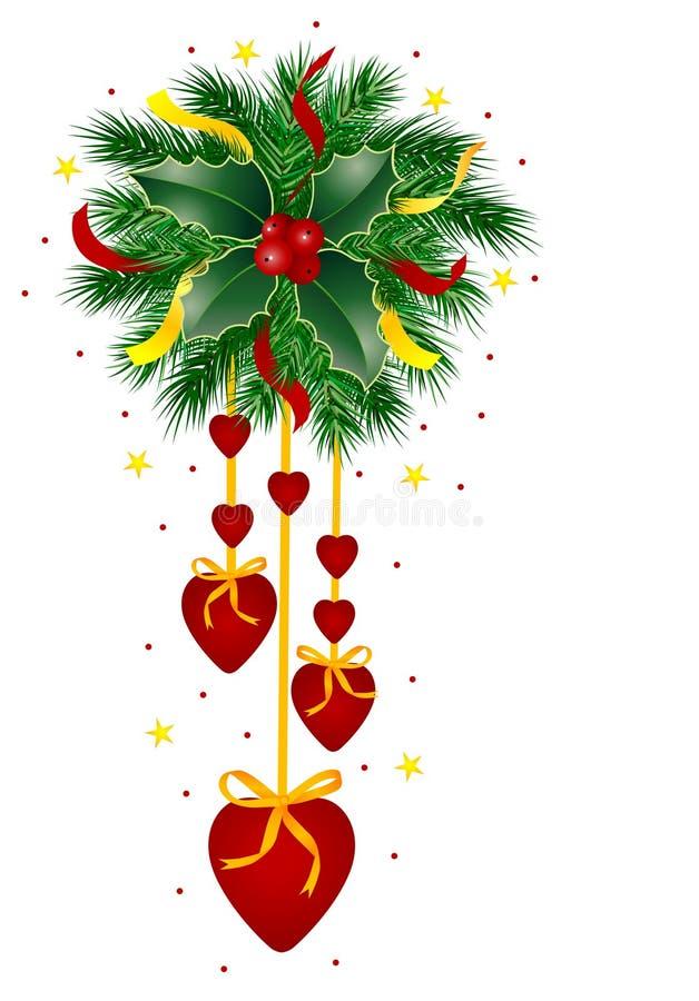 Coração do Natal ilustração stock