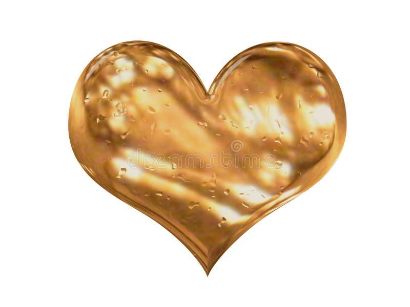 Coração do ouro ilustração royalty free