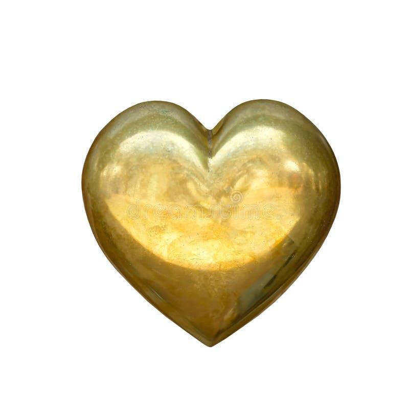 Coração do ouro foto de stock royalty free