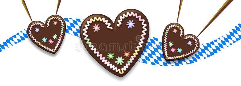 Coração do pão-de-espécie ilustração stock