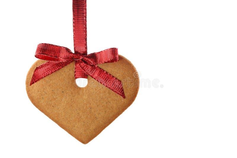 Coração do pão do gengibre foto de stock