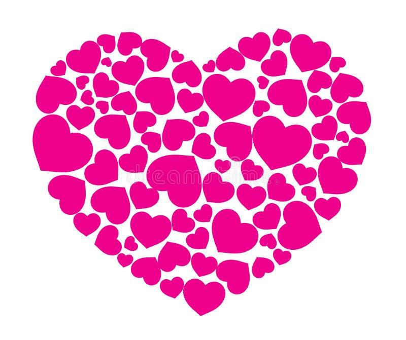 Coração do pêssego ilustração do vetor