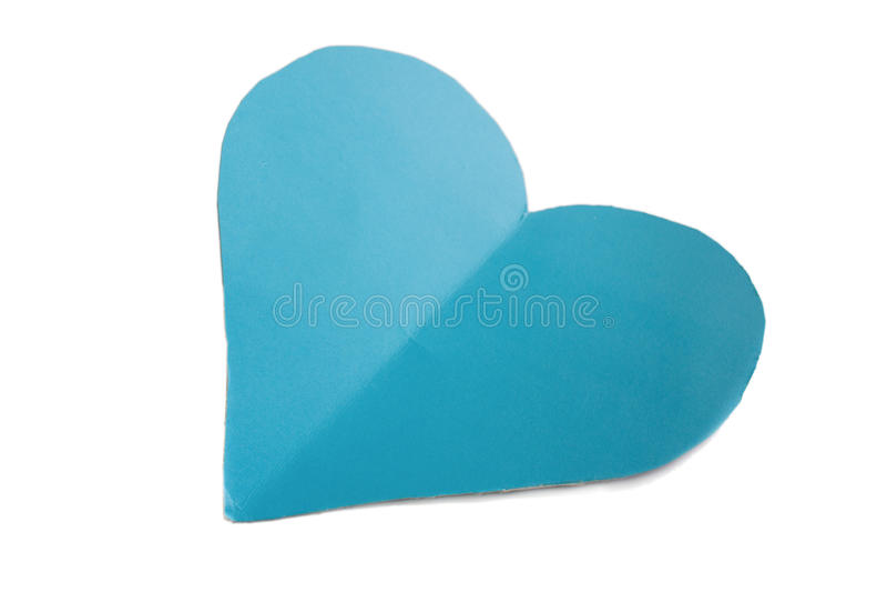 Coração do papel azul imagem de stock