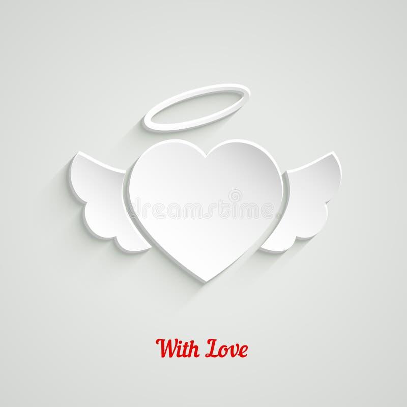Coração do papel do dia de Valentim ilustração stock