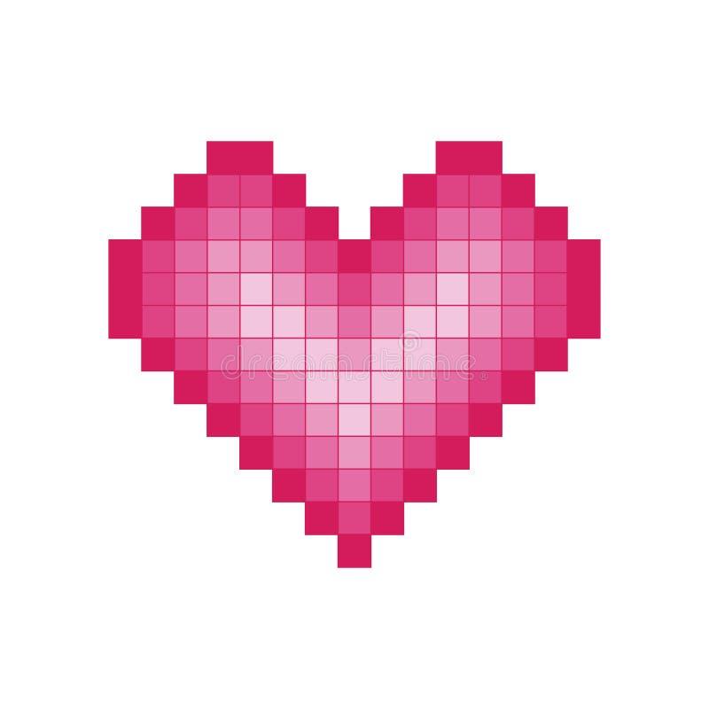 Coração do pixel ilustração royalty free
