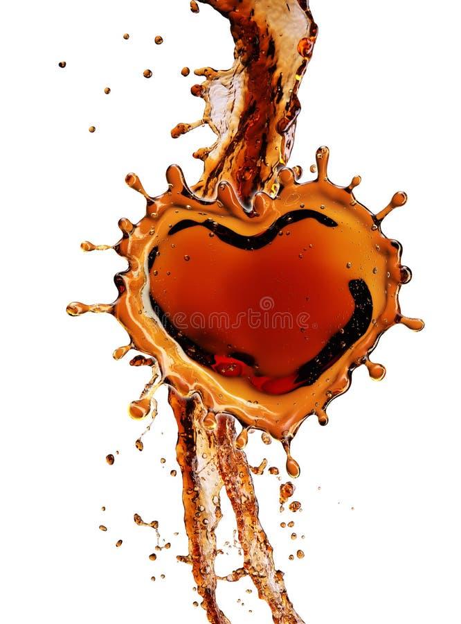 Coração do respingo da cola com as bolhas isoladas no branco ilustração do vetor