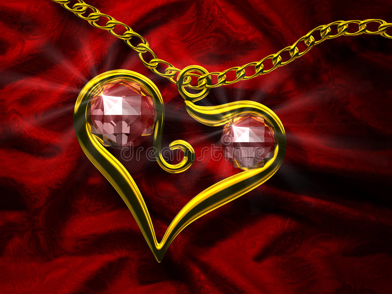 Coração do rubi ilustração stock