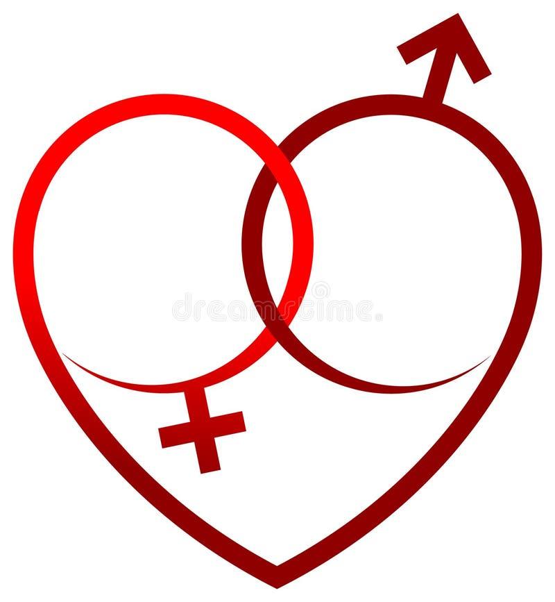 Coração do sexo ilustração royalty free