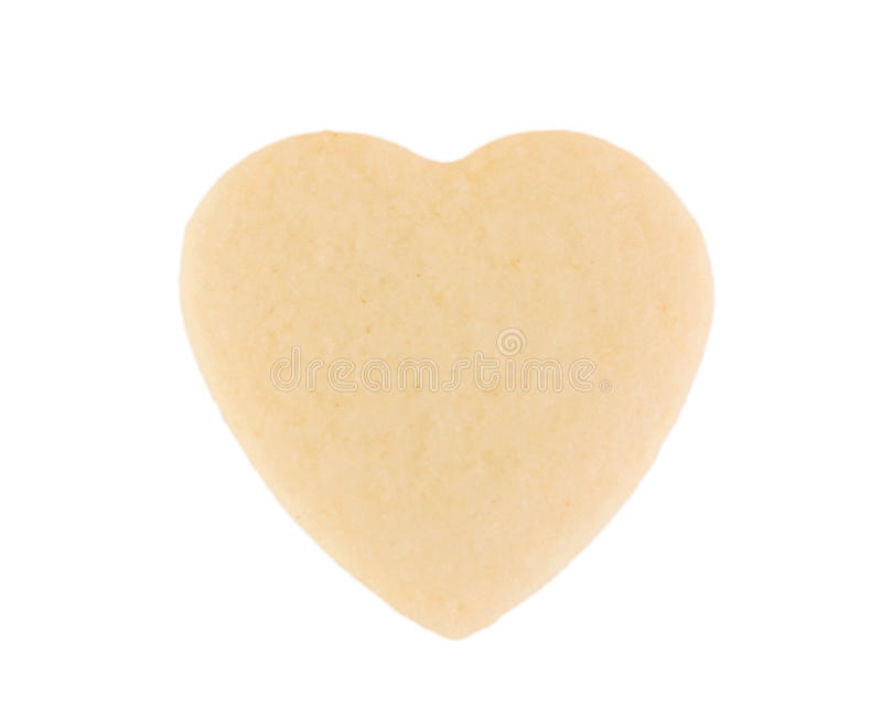 Coração do Shortbread. fotografia de stock royalty free