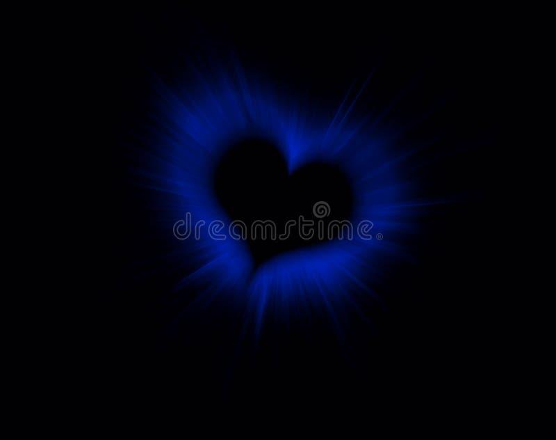 Coração do Valentim no preto ilustração do vetor