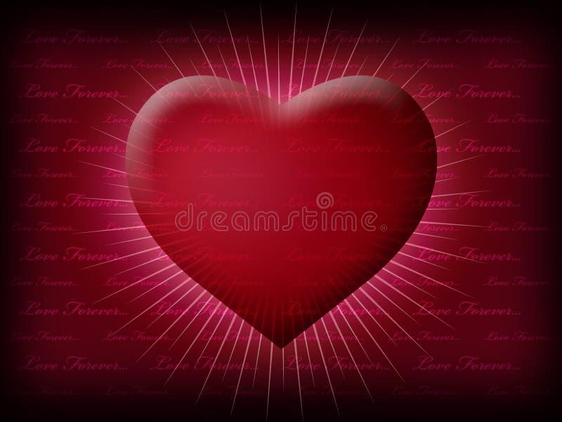Coração do Valentim que brilha com a vida foto de stock royalty free
