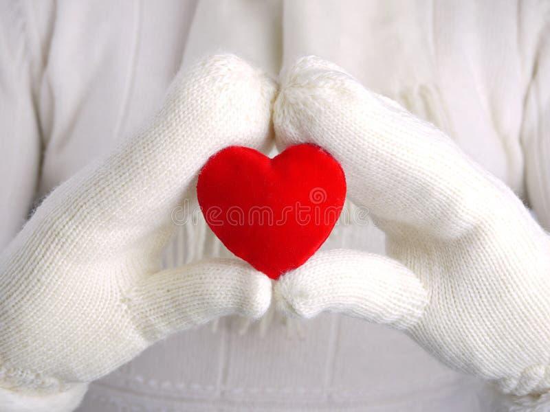 Coração do Valentim vermelho imagens de stock