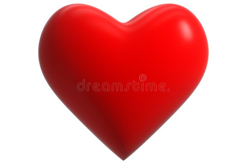 coração do vermelho 3D ilustração stock