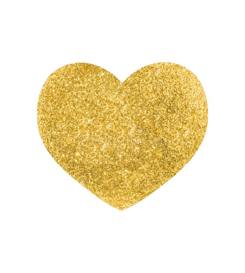 Coração do vetor do ouro imagem de stock royalty free