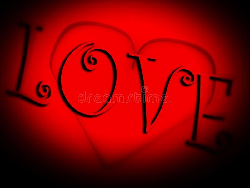 Coração do vidro   ilustração stock