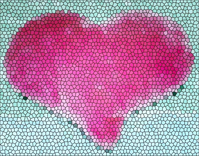 Download Coração do vidro manchado imagem de stock. Imagem de projeto - 55915