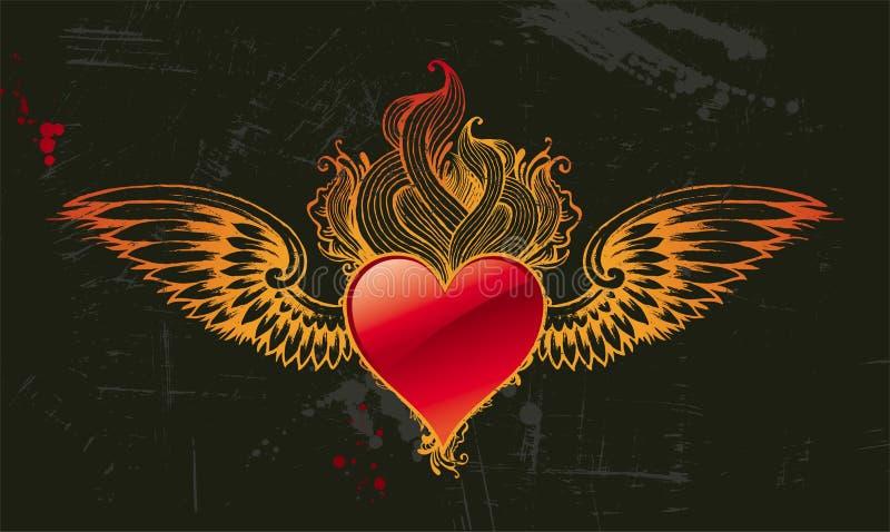 Coração do vintage ilustração do vetor