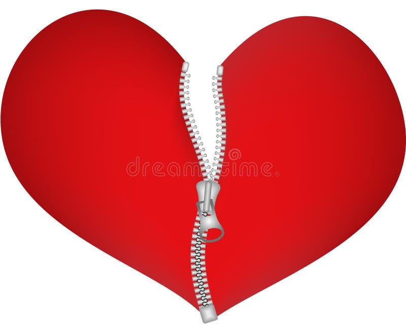 Coração do Zipper ilustração royalty free