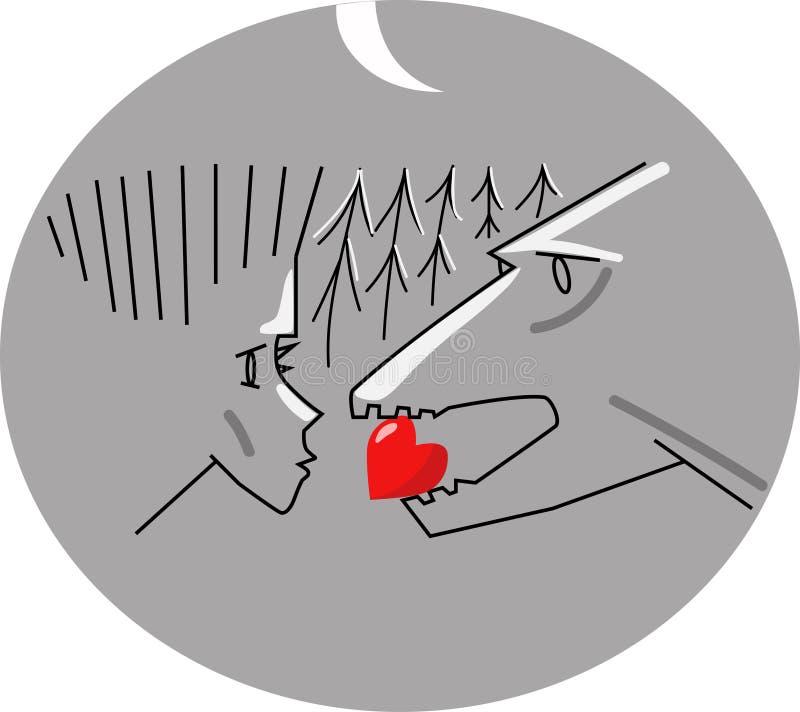 Coração dos animais ilustração do vetor