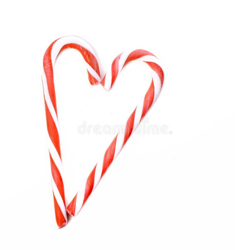 Coração dos bastões de doces fotos de stock royalty free