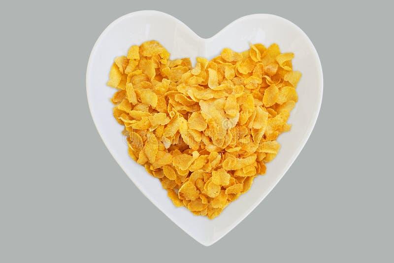 Coração dos Cornflakes fotos de stock royalty free