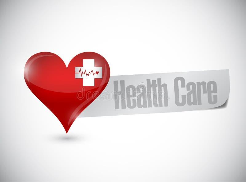 Coração dos cuidados médicos e projeto da ilustração da corda de salvamento ilustração stock