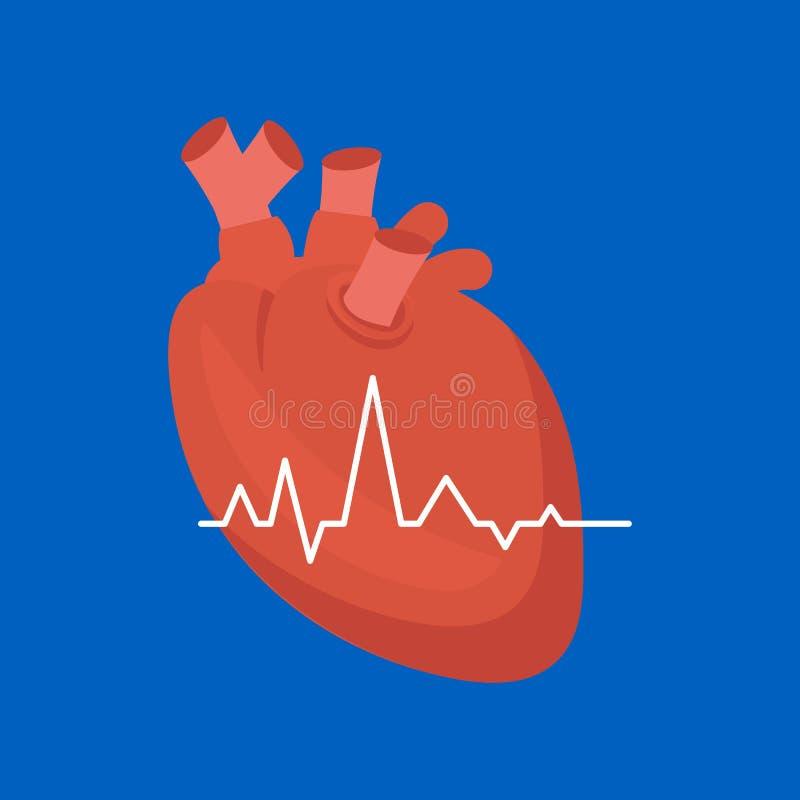 Coração dos desenhos animados Vetor ilustração do vetor