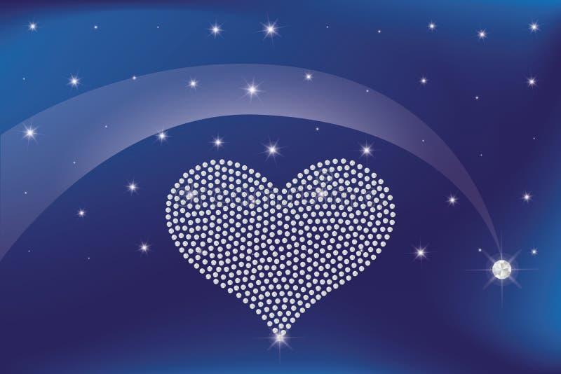 Coração dos diamantes ilustração royalty free