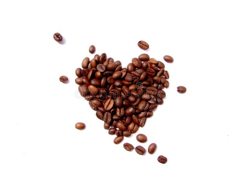 Coração dos feijões de café imagens de stock