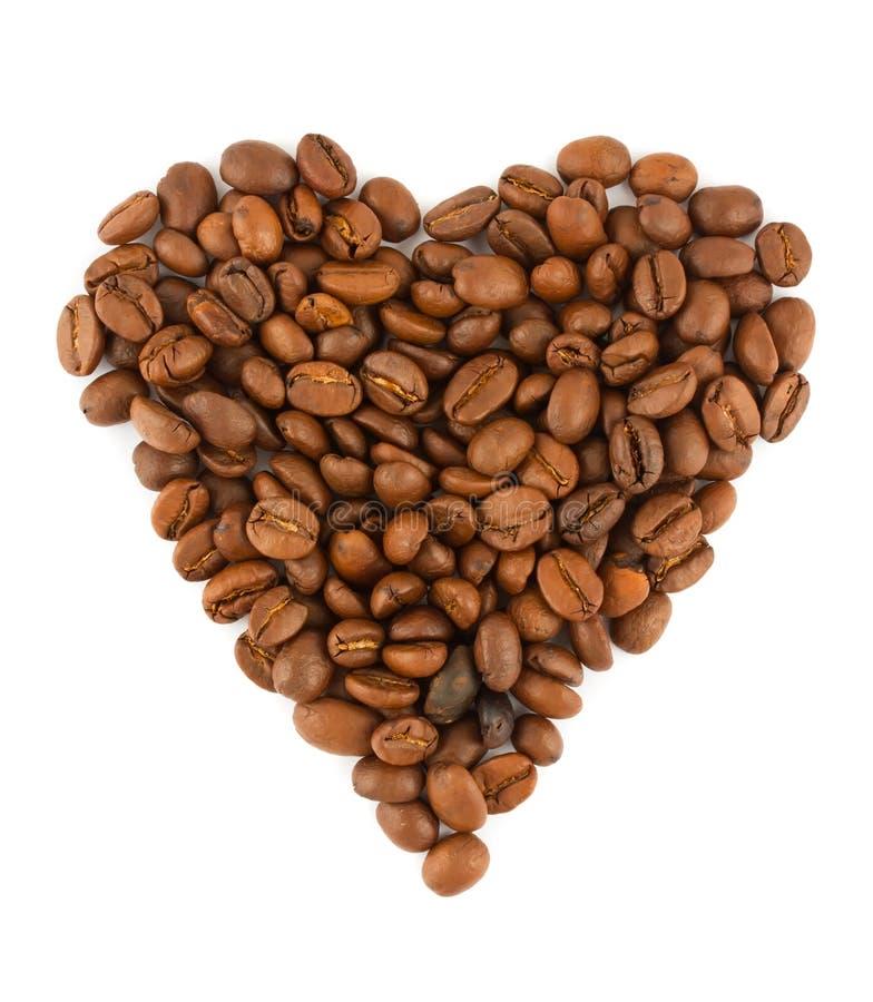 Coração dos feijões de Coffe foto de stock royalty free