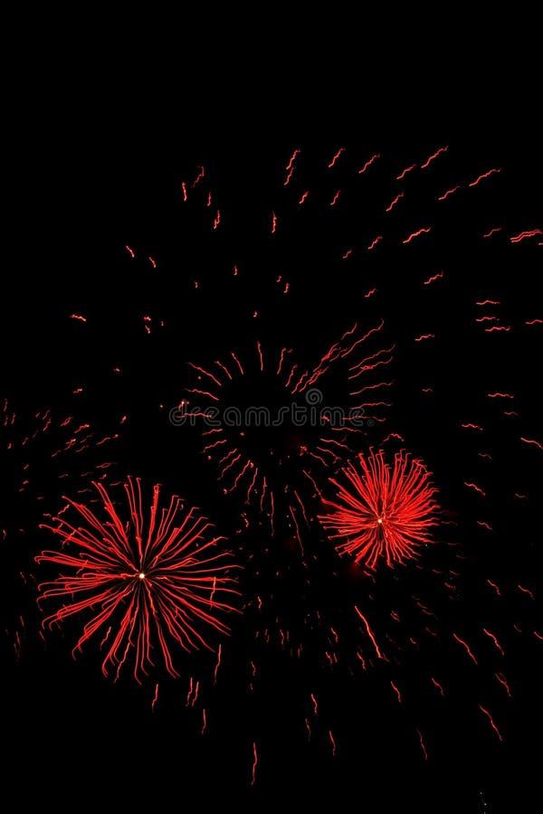 Coração dos fogos-de-artifício foto de stock royalty free
