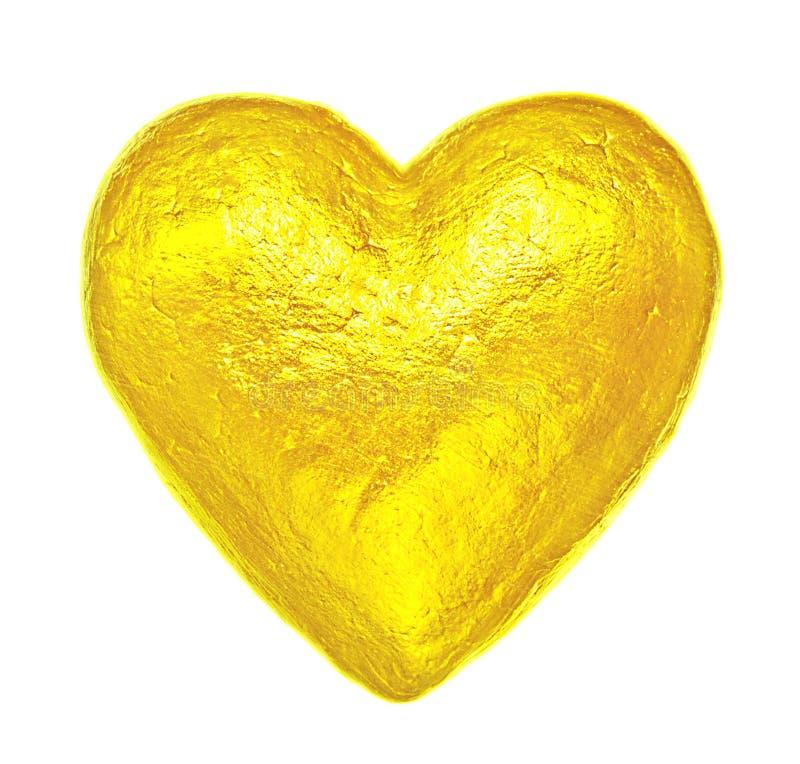Coração dourado criativo Dia feliz do `s do Valentim fotografia de stock royalty free