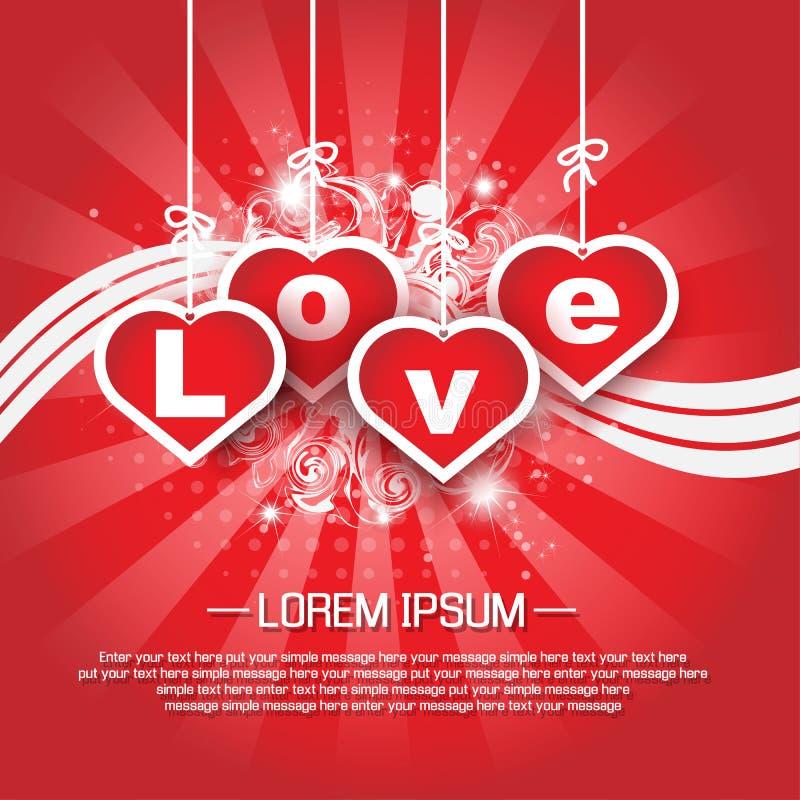 Download Coração E Amor Do Dia De Valentim Ilustração do Vetor - Ilustração de bandeira, invitation: 65575022